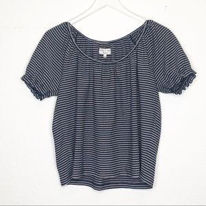 Madewell | Blue & White Striped Blouse Size Small